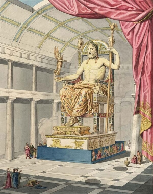 The Statue of Zeus at Olympia served as a reminder of the gods